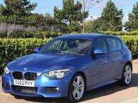 BMW 1 SERIES 2.0 120D M SPORT 5d 181 BHP (blue) 2012