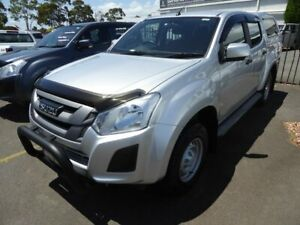 2018 Isuzu D-MAX MY18 SX Crew Cab Silver 6 Speed Sports Automatic Utility Dandenong Greater Dandenong Preview