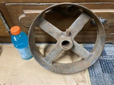 Antique Cast Iron 12x3 14 Flat Belt Pulley Line Shaft Gas Hit Miss Engine