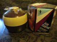 "RETRO KITSCH ""EMBEE"" ICE BARREL(NEVER USED)"