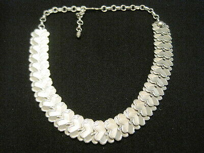 "Vintage Silver tone Choker Necklace 15"" Long ~ adjustable for best fit"