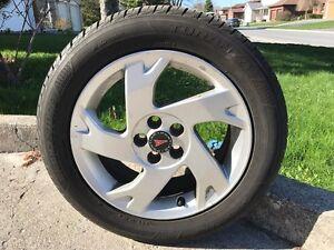 Four 205/55 r16 91H Bridgestone Turanza Serenity+ Tires on Rims