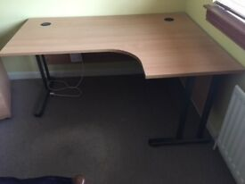 High quality office desk, pedestal and chair