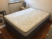 Nearly new orth. double divan bed & mattress (cost new £400 from Argos) with two drawers