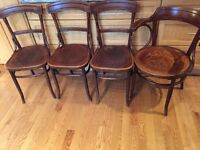 4 Antique bentwood chairs