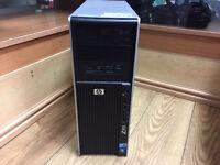 HP Z400 Workstation Xeon W3503 2.40GHz Dual Core 8GB Ram 500GB HDD Win 7 PC