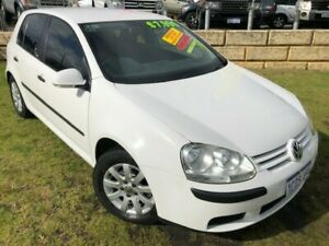 2007 Volkswagen Golf V MY08 Trendline White 6 Speed Manual Hatchback Wangara Wanneroo Area Preview