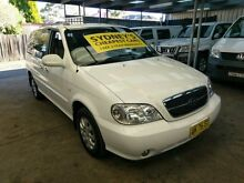 2005 Kia Carnival MY04 LS White 4 Speed Automatic Wagon Five Dock Canada Bay Area Preview