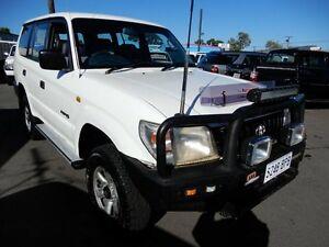 1997 Toyota Landcruiser Prado VZJ95R RV6 White 5 Speed Manual Wagon Enfield Port Adelaide Area Preview