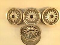 "RONAL IRMSCER 15"" 4x100 6.5j alloy wheels. Deep dish. not borbet bbs, ats, lenso, hartge"
