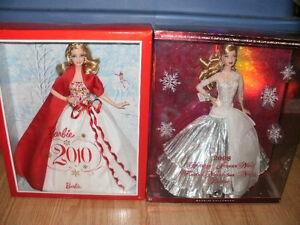 2008 & 2010 Holiday Barbie