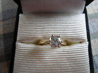 .76 Carat Diamond ring and .20 Carat diamond band