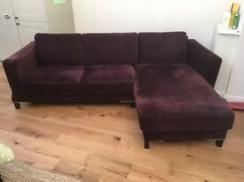 Excellent chaise sofa for sale, 4 years old