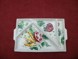 Italian Hand Painted Serving Nibbles Dish Plate
