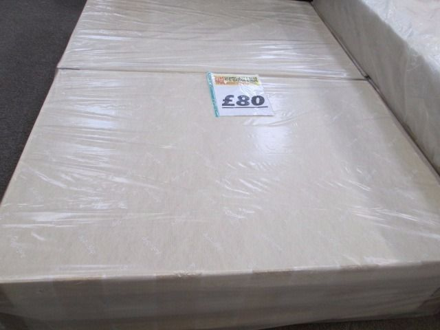 ***BRAND NEW WRAPPED+DOUBLE 4ft 6 inches wide DIVAN BASE+ANTISLIP+COASTERS+DELIVERY AVAILABLE*****