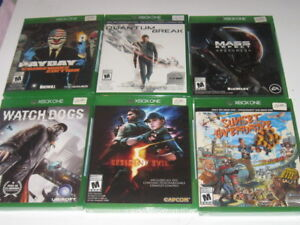 XBOX ONE GAMES - FACTORY SEALED - PRICES MARKED