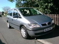 Vauxhall ZAFIRA, 2004, 1.6, MOT MAY 2017, 7 SEATER, 62K GENUINE MILES FROM NEW, contact 07763119188