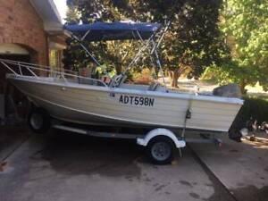 16 Foot Aluminium fishing boat for sale