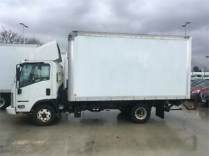 2011 ISUZU NPR HD 2 ton cube truck 14 feet DIESEL POWER GATE
