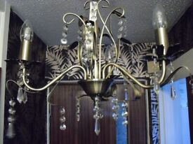 complete set of (MAISON) chandeliers 1x5 arm 2 x 3 arm,