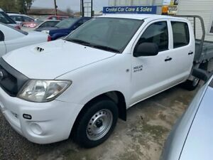 2010 Toyota Hilux KUN16R MY11 Upgrade SR Glacier White 5 Speed Manual Dual Cab Pick-up Park Holme Marion Area Preview