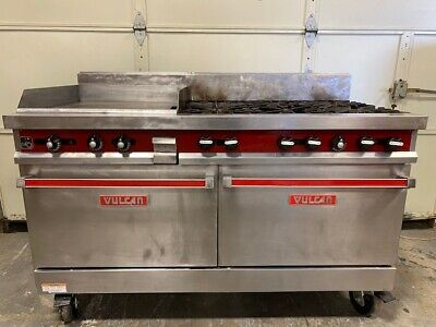 Vulcan 60ftl-sefbaw Natural Gas 6 Burner Range 24 Griddle Double Oven