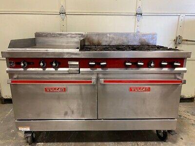 Vulcan 60ftl-sefbaw Natural Gas 6 Burner Range 24 Griddle Double Oven