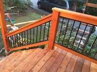 Bold Aluminum & Glass new deck, patio cover, railing, gate