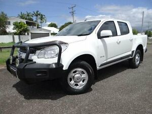 2013 Holden Colorado RG LX (4x2) White 6 Speed Automatic Crewcab Bungalow Cairns City Preview