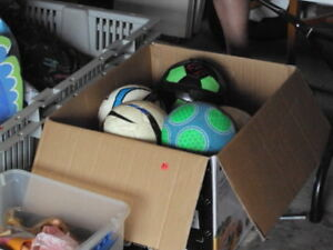 Soccer stuff - cleats, balls,  socks, shin guards, shorts, etc
