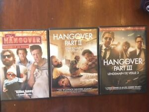 Complete set of The Hangover DVDs 1, 2 and 3