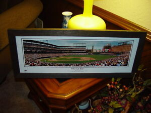 MAN CAVE PANORAMIC DARK CEDAR FRAMED PRINT BALTIMORE ORIOLES DAY CAMDEN YARDS