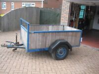 HEAVY DUTY TRAILER - 6ft.6ins. x 4ft. - SOLID CONSTRUCTION