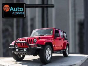 2015 Jeep Wrangler Unlimited Sahara, 4x4, 3.6L V6, Navigation, R