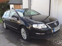 Passat H/L Estate, Black Met, Leather int, one owner, full service, good condition throughout