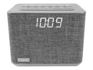 iHome IBT232GC Bluetooth Dual Alarm FM Radio Clock – Grey (Open Box)