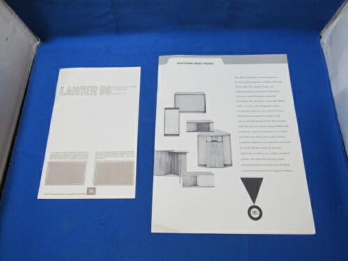 JBL Lancer 99 Factory Owners Manual & Cabinet Care Guide   Please Read