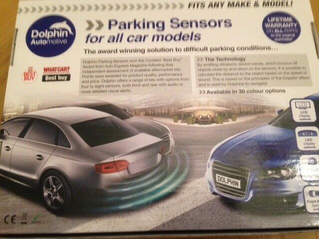 Parking Sensors, fits all cars. White. Front or Back sensors.