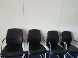 Black executive boardroom chairs