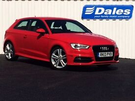 Audi A3 2.0 S Line TDI 3dr (red) 2013