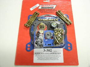QUICK-FUEL-3-302-HOLLEY-CARBURETOR-DOUBLE-PUMPER-4150-SUPER-REBUILD-KIT