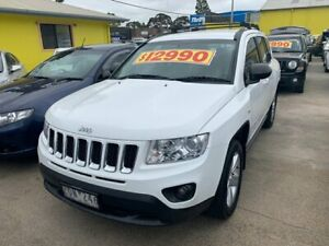 2012 Jeep Compass MK MY13 Sport White 5 Speed Manual Wagon
