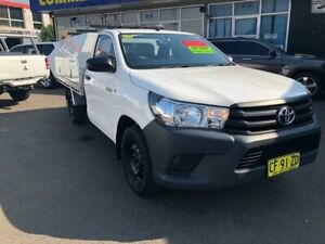 2015 Toyota Hilux GUN122R Workmate White 5 Speed Manual Cab Chassis Clyde Parramatta Area Preview