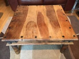 Large exotic wood coffee table
