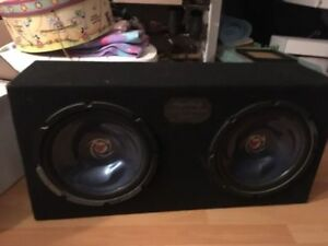"Two 12"" Kenwood Subs"