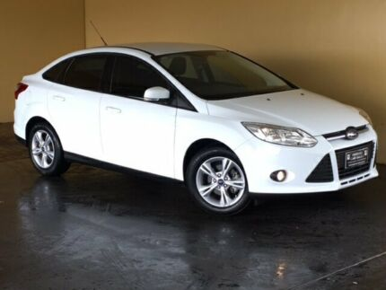 2012 Ford Focus LW MK2 Trend White 6 Speed Automatic Sedan South Toowoomba Toowoomba City Preview