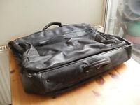 Italian leather folding suitcase
