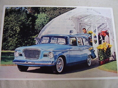 1959 STUDEBAKER  STATION WAGON  BLUE  11 X 17  PHOTO  PICTURE