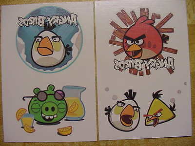 100 ANGRY BIRDS Temporary Tattoos 5 each of 20 designs 2