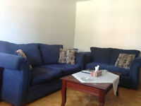 3 navy blue sofas in great condition